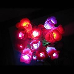 Coway färgglad Med Rose LED Night Light Romantic Couple Special (Random färg)