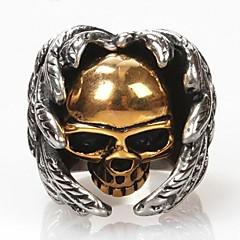 Anillos Forma de Cráneo Diario Joyas Titanio Acero Anillos de Diseño7 / 8 / 9 / 10 / 11 / 12 Dorado