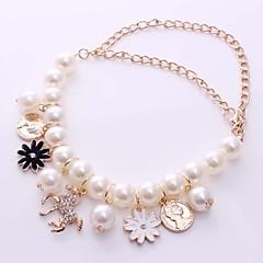 Alloy Bracelet 5 Multilayer Korean Fashion Horse Flower Petal Women Charm Bracelets