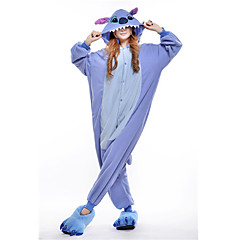 Nieuwe Cosplay Blue Stitch Polar Fleece Adult Kigurumi Pajama