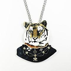tigris mintás fa nyaklánc