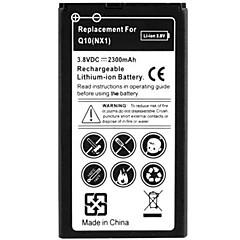 블랙 베리 Q10를위한 2300mah 고용량 보충 재충전 용 리튬 이온 폴리머 배터리