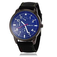 JUBAOLI Мужской Армейские часы Кварцевый силиконовый Группа Черный