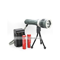 LT-LJ002 Magnetic Switch 4 Modes 1xCree XML T6 Diving Led Flashlight(900LM.1x18650.Green)