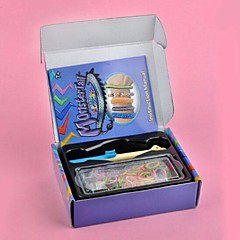 Tęcza kolorowy styl krosno zestaw diy pleciony (gumowa opaska 600 szt, a klamra 12 szt, szydełkowania, tkania narzędzi)
