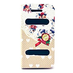 Bow Rose Flower Heart Pattern PU Leather Full Body Case with Stand for iPhone 4/4S