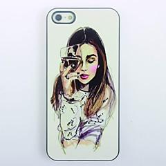 Elegant Girl Design Metal Hard Case for iPhone 5/5S