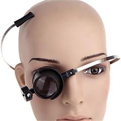 15x eye-clamp fritt ledde klocka reparation lupp förstoringsglas (2 x CR1620)