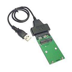 """USB 2.0 mini pci-e mSATA SSD 1.8 """"micro sata 7 + 9 16pin adapter hozzá a kártyák PCBA SSD merevlemez"""