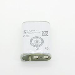 650mAh 3.6V Ni-MH conjunto de bateria recarregável