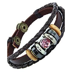 étnica para casais 20 centímetros pulseira de couro dos homens de couro marrom (azul, rosa) (1 pc)