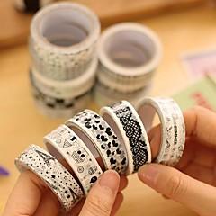 svart och vitt dekorativa band (slumpmässig färg 1 st)