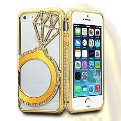 Shengo ™ cristal de luxe boîtier en métal de style incrusté de strass pour iPhone5 / 5s
