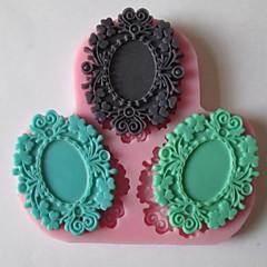 Three Flower Baking Fondant Cake Chocolate Candy Mold,L9cm*W9cm*H1cm