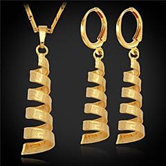 u7® vintage g mönster kvinnors hängande örhängen ställa 18k äkta guld platina smycken uppsättningar för kvinnor