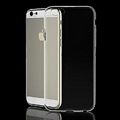 transparent silikon tillbaka fallet för iphone 6s / 6 plus (diverse färg)