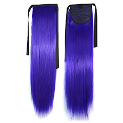 Top Quality Hot Selling Peny Tail Hair Clips Farve Farverige Bar Engros Hair Extension Purple Populære 20 tommer