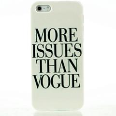 plus de questions que de cas dur de modèle de lettre de la mode pour iPhone 5 / 5s