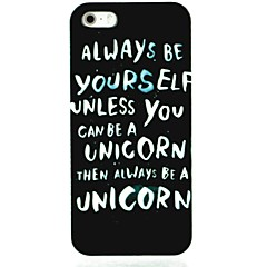 Be Youself Letter Pattern Hard Case for iPhone 5/5S