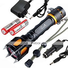 Valaistus LED taskulamput / Käsivalaisimet LED 2400 Lumenia 5 Tila Cree XM-L2 18650Vedenkestävä / ladattava / Iskunkestävä / Isku viiste