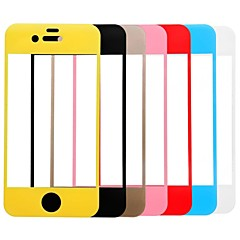 Link Dream Colorful Premium Tempered Glass Screen Protector with Holder  for iPhone 4/4s