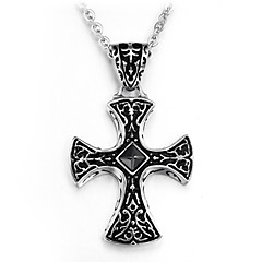 Unique Cross Pendant Titanium Steel Man Fine Necklace