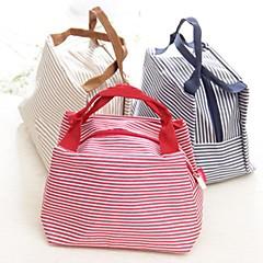 αδιάβροχο οριζόντιες ρίγες γεύμα τσάντα κουτί πολυεστέρα ίνα χρώμα τυχαία 23 * 15 * 17 εκατοστά