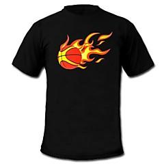heren branden t-shirt geluid en muziek geactiveerd equalizer geleid el klittenband paneel wasbaar party bar raver festival