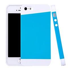 silicone hybride et l'armure de pc concevoir étui pour iphone 5/5 ans (couleurs assorties)