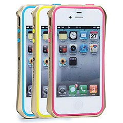 SHENGO™ Unique Titanium Metal Bumper  With Soft TPU Insert Protection  Designs for iPhone 4/4S