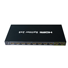 HDMI Splitter 2 Input 8 Output Amplifier Switch Box Hub 2x8 HDTV 1080p 3D
