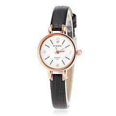 Women's Gold Case Slim PU Band Quartz Wrist Watch (Assorted Colors) Cool Watches Unique Watches