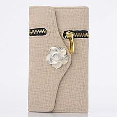 diamant Camellia plånbok PU läder hela kroppen fallet med stativ till Samsung Galaxy S3 i9300 (blandade färger)
