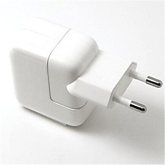 eu plugg usb rese port ac laddare med 8-pin laddningssynkdatakabel för iphone 5 / 5s ipad mini / luft (110v-240v, 2.1a)