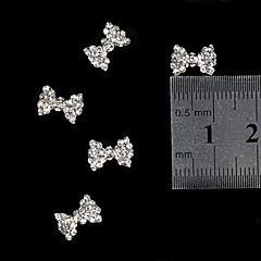 10pcs  3D Blink Rhinestone Bow Tie  Alloy Fingernail Accessories Nail Art Decoration