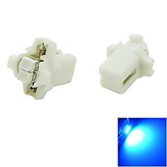B8.3 LED 0.5W 2x3528 SMD Blue Light Car Dash Board Cluster Gauges Instrument Bulb Lamp(DC 12V , 2-Pack)