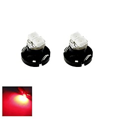 T4.2 0.5W 2x3528 SMD LED Red Light Car Bulb for Dash Board Cluster Gauges Instrument Lamp(DC 12V , 2-Pack)