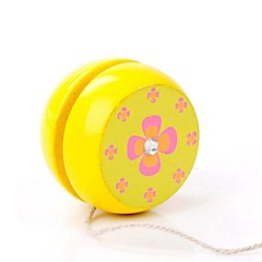 Diverse Image Wooden Classical Yo-yo Toy(Random Color 1PCS)