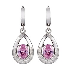 Fashion 925 Sterling Silver Cubic Zirconia Earrings 1 Pair