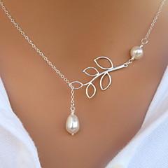 Schmuck Anhängerketten Party / Alltag / Normal Aleación / Künstliche Perle Damen Silber / Weiß Hochzeitsgeschenke