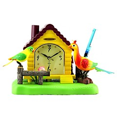 Megafeis® T300 Beautiful Bird Peacock House Alarm Clock Penholder Chirm Wiggly /New Christmas New Year gift for kids