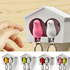 Couples Nests and ABS Bird Keychain with Whistle
