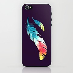 Two Feathers Pattern Hard Case for iPhone 5/5S