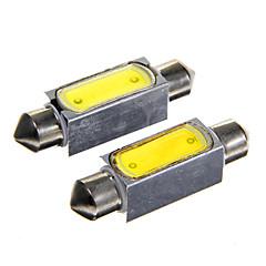 42mm 3w 150lm 6000k blanc conduit lampe de voiture de lecture (DC12V, x2)