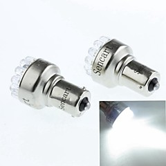 1156 1W 19LED 90LM 6500K White Brake Llights Reversing Lights  (DC12V / 2pcs)