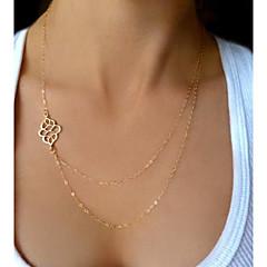 shixin® europeiska (knut) liten kedja halsband (golden, silver) (1 st)