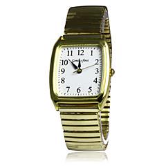 Men's Rectangle Dial Elastic Steel Band Quartz Wrist Watch