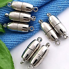 SK65 Alloy Magnet Jewelry Necklace Buckle White (10Pcs)