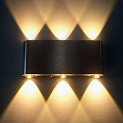 Vekselstrøm 85-265 6W Integreret LED Moderne / Nutidig Børstet Funktion for LED,Atmosfærelys Væglys
