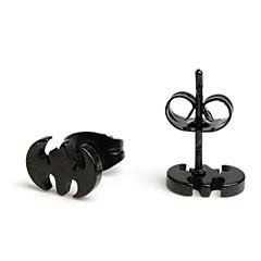 Fashion New Black Bat Stainless Steel Stud Earrings